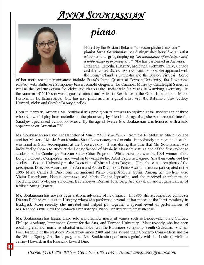 Written bio, Anna Soukiassian, piano, for web site